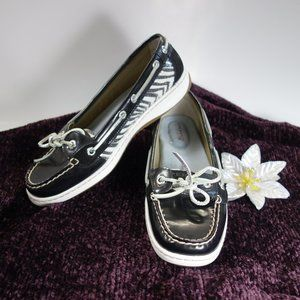 Sperry Angelfish Leather Boat Shoes Size 7M